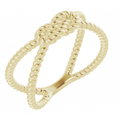 Gold Rope Knot Ring
