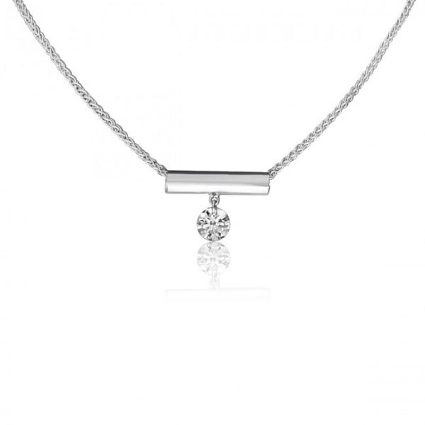 14K White Gold Necklaces