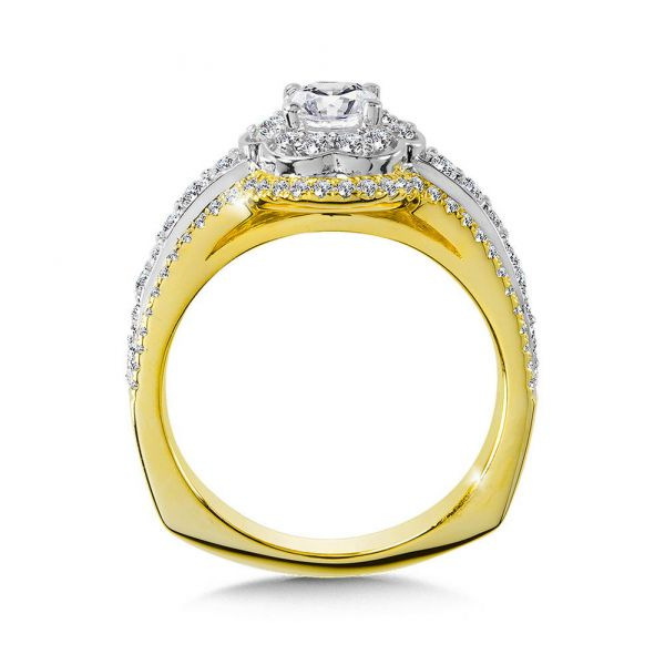 14K White, Rose, and Yellow Gold Engagement Rings